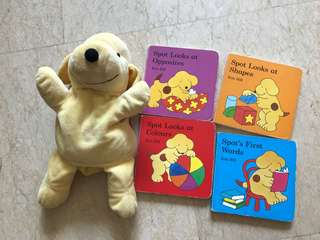 Spot series (4 books) plus a puppet by ERIC Hill