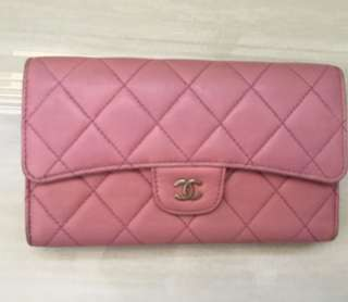 Authentic Used $650 Chanel Long Wallet