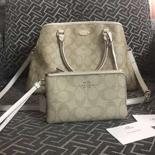 Coach Beige two way bag