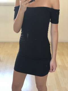 Bardot black dress