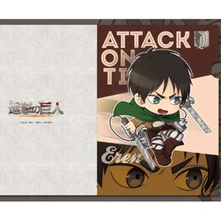 [Instock] Attack on Titan - Clear File (Petit-ta): Eren