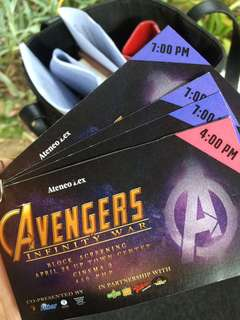 Avengers Infinity War tickets