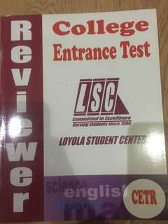 LSC College Entrance Test book CETR