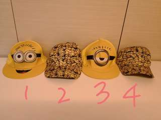 *new* 100% authentic Minion caps