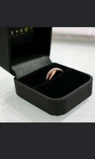 Rose Gold Half Eternity Ring