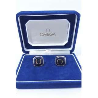 Omega亞米笳袖扣,附原廠盒裝