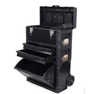 photo Share This Listing Save Public Comments  Be the first to write a public comment. Ask a question or @mention a friend to check this out! Available Now! Brand New 3 in 1 Trolley Wheel Toolbox tool box Cabinet Set Tools Organiser and Storage