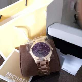 Mk Watch Rosegold Authentic
