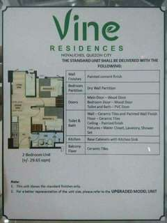 SMDC Vines NOVALICHES Tower 2 6th floor unit 26