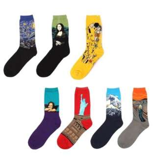 Iconic Socks Famous Paintings Designs (no tags)