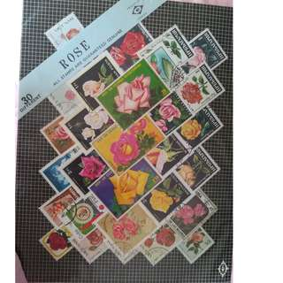 Stamps - Rose