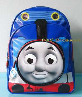 Tas Sekolah Anak Ransel Backpack TK Full Print 3 Kantong THOMAS