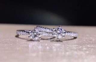 30分GIA証書永恆款式18k白金鑽石戒指💎求婚戒指結婚戒指對戒女朋友情人節