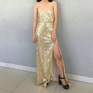 For RENT: Gold Evening Gown (Temporarily reserved on May 26)