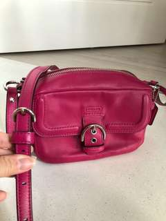 Authentic Coach Pink Sling Bag