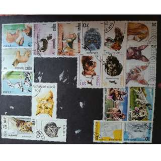 Stamps - dogs/cats
