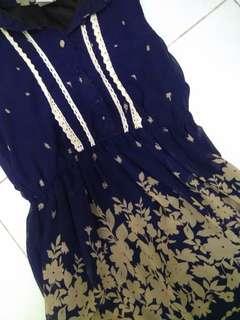 Dark Blue Collared Dress