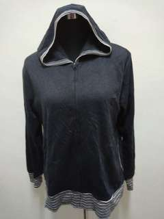 MC NINE Grey Hoodie Sweater Jacket
