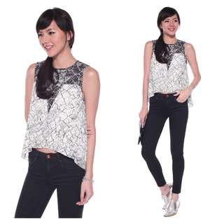 Love Bonito Tionna Marble Print Tank in S