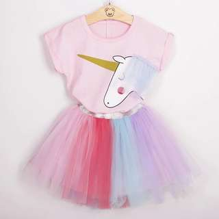 BNWT unicorn rainbow girls set