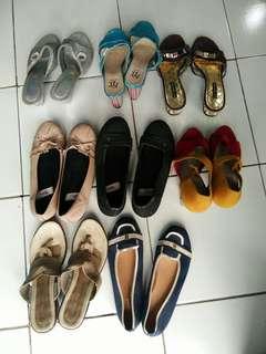 Bundling 8 pasang Sandal dan Sepatu super murahhhh