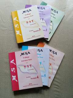 MSA College Entrance Test and SAT Modules