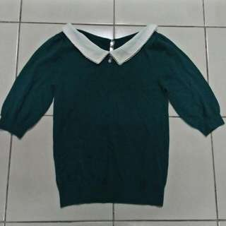 Blue Green Blouse