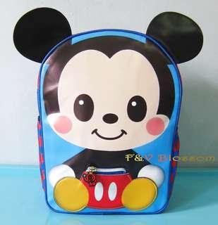 Tas Sekolah Anak Ransel Backpack TK Full Print Blue MICKEY MOUSE