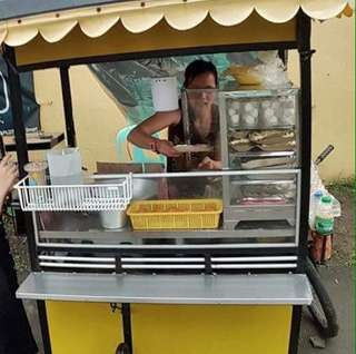 Food cart bike cart