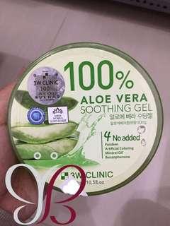 ORIGINAL 100% 3W Clinic Aloe Vera Soothing Gel