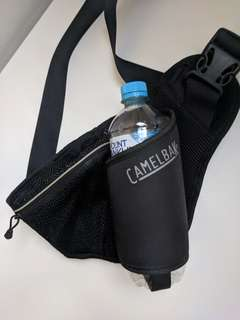 CamelBak Delaney Waist Hip Water Bottle Holder Belt with Zip Pouch