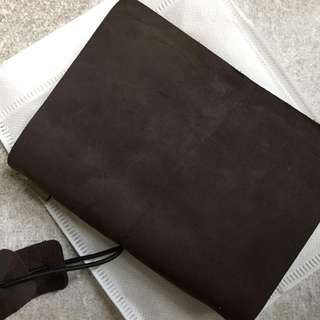 📕📕📕📕 INSTOCKS  Real Leather  🍫Chocolate Brown🍫 Midori Styled Traveler's Notebook, Planner, Journal Passport Size (Can use as a Passport Holder)
