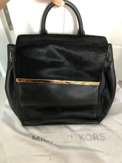 Authentic Michael Kors Black Backpack with Horse Hair