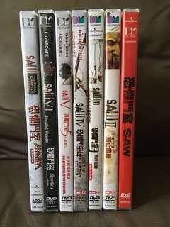 Saw 1-7 dvd 恐懼鬥室1-7 全集 18禁