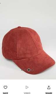 Suedette Cap ( red / rust)