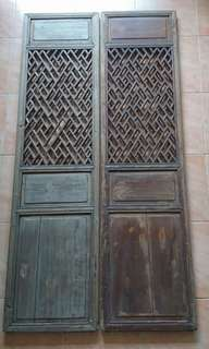 Antique lattice doors