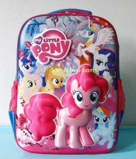 Tas Sekolah Anak Ransel Backpack SD Timbul Emboss Hard Case MY LITTLE PONY FLOWER