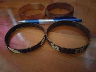 Bangles - 1 set of rattan/ straw