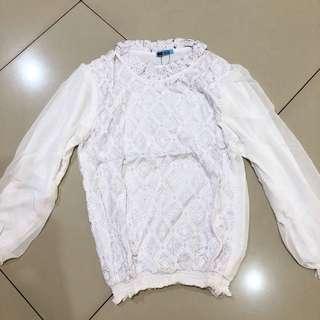 Brokat putih top