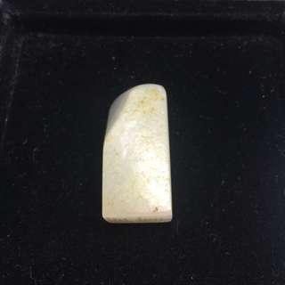 清朝 和闐白玉 印章 保真