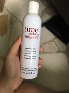Philosophy time in a bottle lotion
