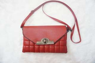 Red Quilted Sling Bag❤