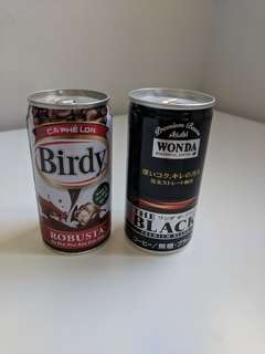 Unopened Collectible Cans of Coffee from Vietnam and Japan