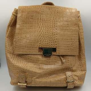 Kurt Geiger Croc Beige Backpack