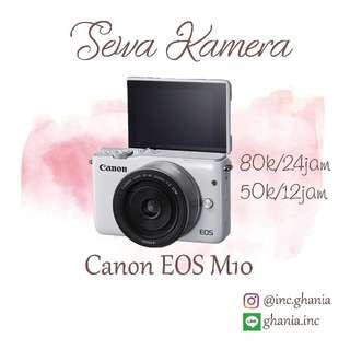 Sewa Kamera Mirorless Canon Eos M10