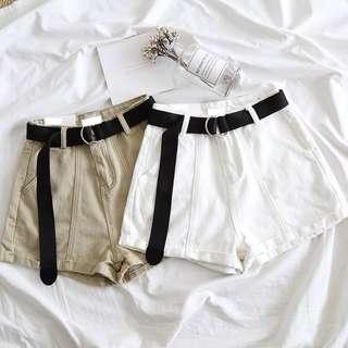 🚚 042010(S~L)日系 高腰寬鬆牛仔短褲