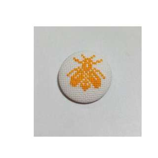 Handmade cross stitch bee brooch/scarf pin/handbag pin/hat pin