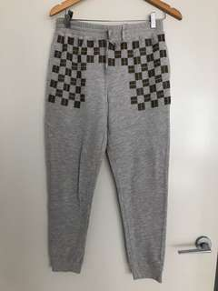 Sass and bide grey track pants with gold embellishment size 8