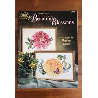 Beautiful Blossoms - American School of Needlework - Cross stitch design chart pattern DIY