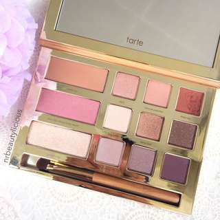 DEFECT ITEM TARTE Limited Edition Swamp Queen Eye & Cheek Palette with Brush